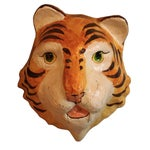 Image of Decorative Paper-Mâché Tiger Mask