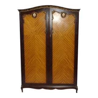 Louis XV Satinwood & Mahogany Armoire