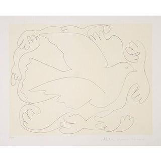 """Pablo Picasso """"Etudes De Mains Et Colombe"""" Lithograph"""