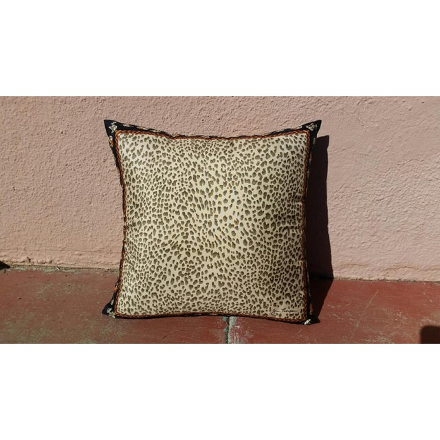 Jim Thompson Silk Leopard Pillow - Image 2 of 4