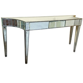 Hollywood Regency Style Mirrored Console Table