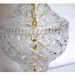 Image of Vintage Cut Glass & Brass Table Lamp and Shade