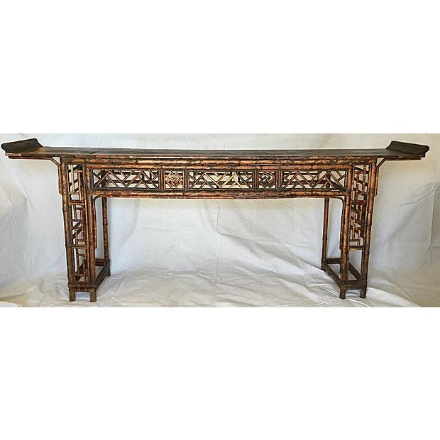 Early 19th Century Chinese Bamboo Altar Table - Image 2 of 7