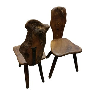Organic Olive Wood Side Chairs