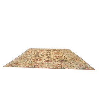 Vintage Wool Mahal Handmade Knotted Wool Rug - 13′6″ × 15′5″ - Size Cat. 12x15 14x16