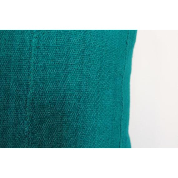"""Image of Teal 20""""x20"""" African Mudcloth Pillow"""