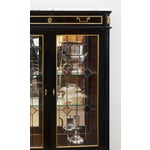 Image of French Louis XVI Marble-Top Vitrine or Bookcase