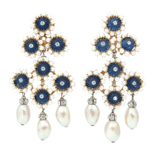 William DeLillo Shoulder Duster Earrings
