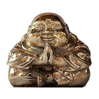 Praying Copper Buddha Figure