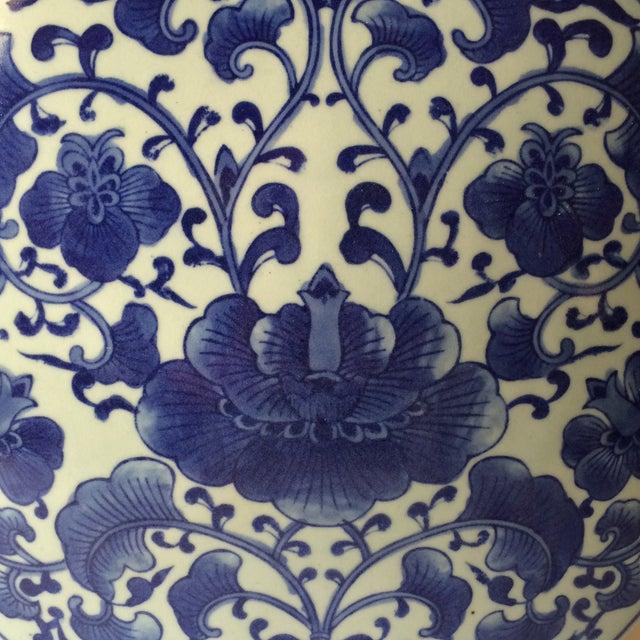 Image of White & Blue Chinoiserie Tea Pot