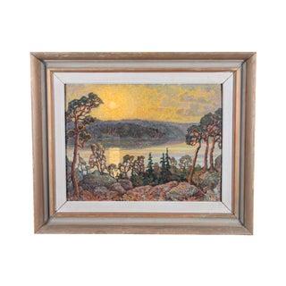 Sunset Over Sommen Lake Oil Painting