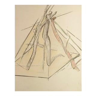 "Mitch Clark Glass Rock Series Pastel ""Drawing VI"" Drawing"