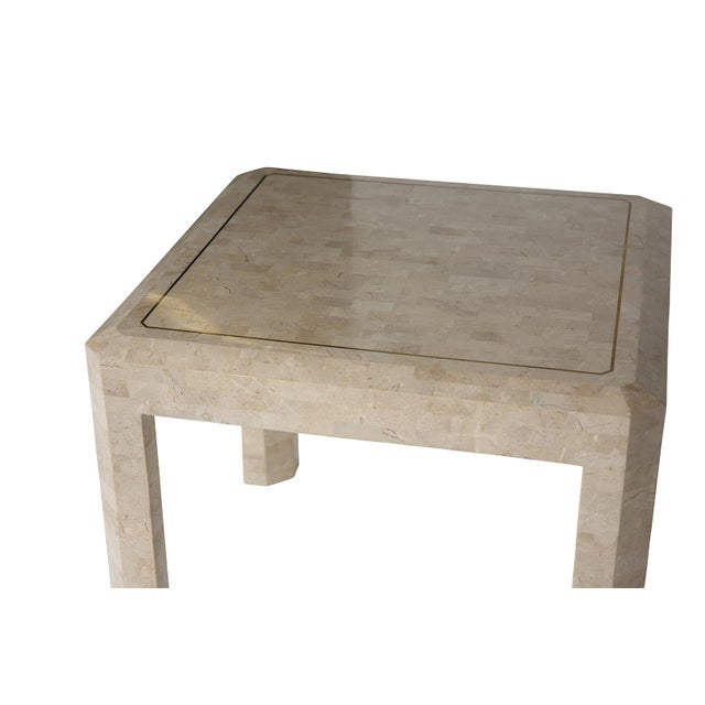 Maitland Smith Tessellated Side Table - Image 4 of 6