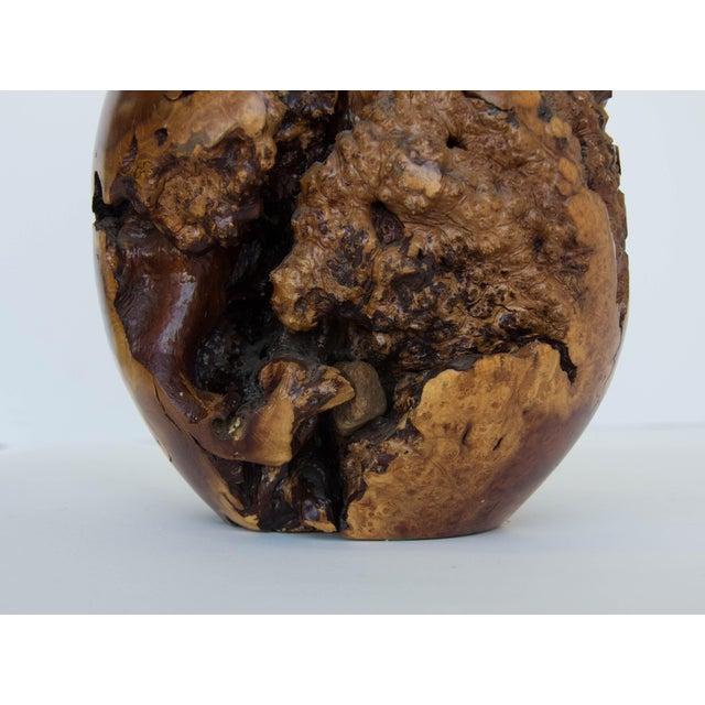 Turned Burl Wood Vase - Image 9 of 10