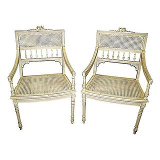 French Louis XVI-Style Chairs - A Pair