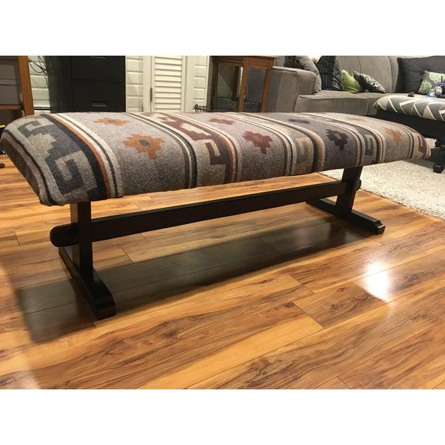 Pendelton Wool Upholstered Coffee Table Chairish