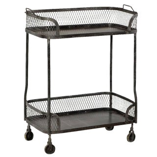 Industrial Metal Beverage Cart