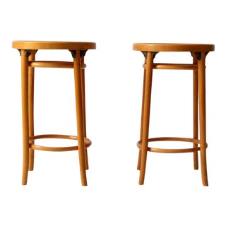 Mid-Century Bentwood Stools - A Pair