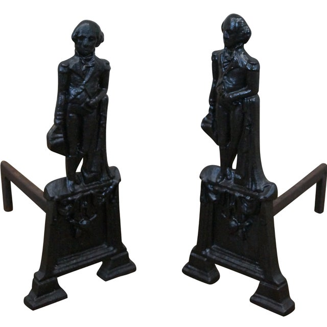 George Washington Andirons- A Pair - Image 1 of 10