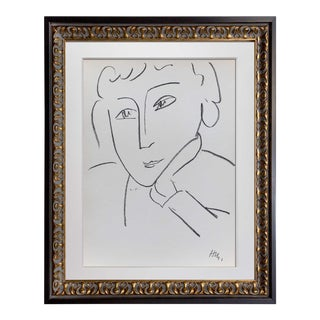 Henri Matisse Framed Woman Study Lithograph