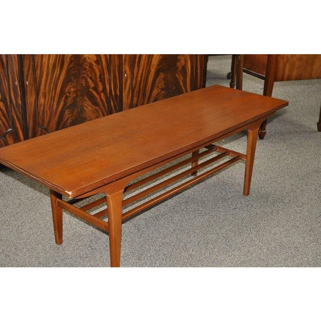 Vintage Teak Coffee Tables: 1960's Vintage Teak Two Tier Coffee Table