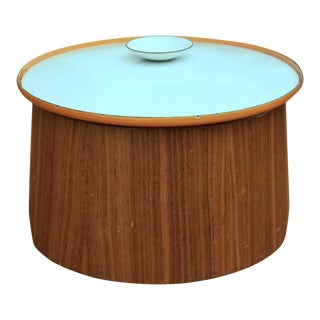 Servex Teak & Enameled Steel Serving Pot/Bowl - 3 Pieces