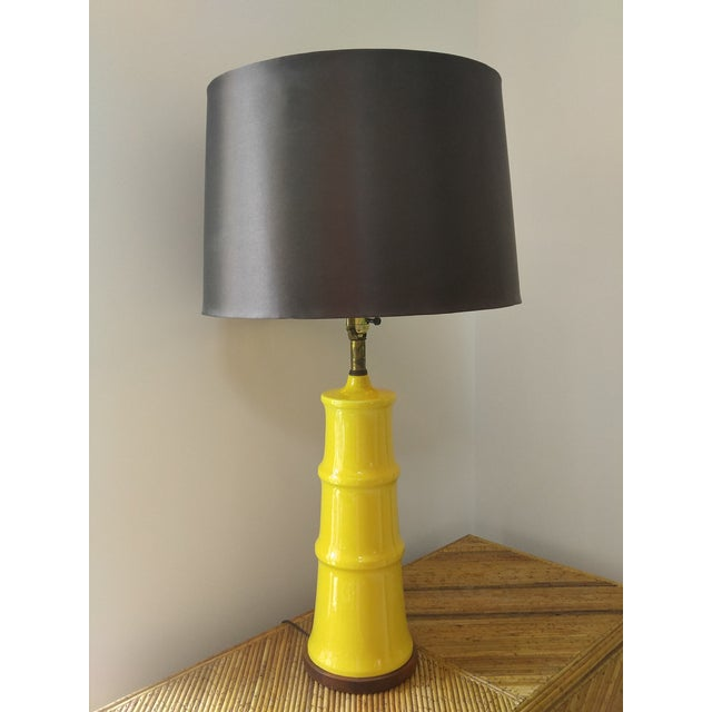Yellow Bamboo Form Lamp - Image 2 of 7