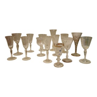 Collected Vintage Cordial Glasses- Set of 14