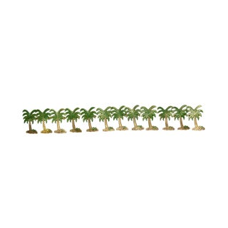 Brass Palm Tree Napkin Rings - Set of 12
