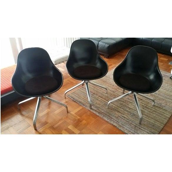 Mid-Century Modern Swivel Chairs - Set of 3 - Image 2 of 6