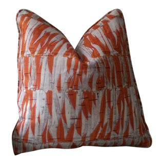 Holland & Sherry Christopher Farr Willow Orange Pillow Cover