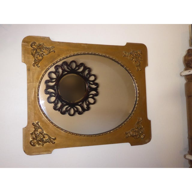 Antique Victorian Style Gold Gilt Floral Carved Wood Wall Mirror - Image 4 of 11
