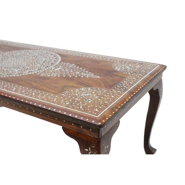 Vintage Bone Inlay Coffee Table - Image 4 of 8