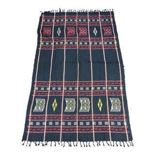 Nagaland Black & Red Tribal Throw