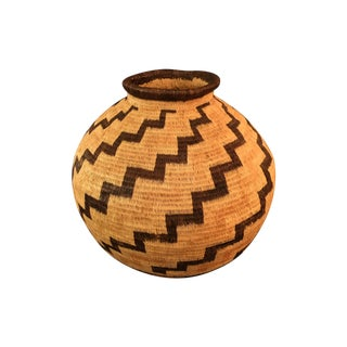 Organic Colombian Werregue Round Woven Basket