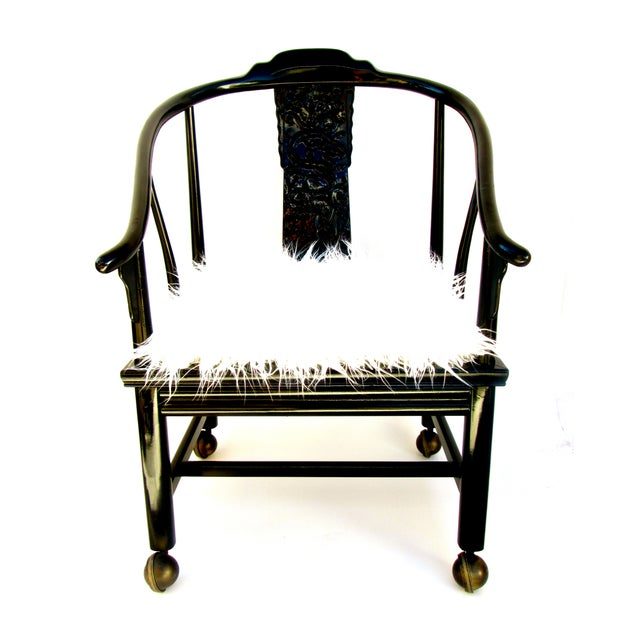 Vintage James Mont Lacquered Ming Chair - Image 2 of 7