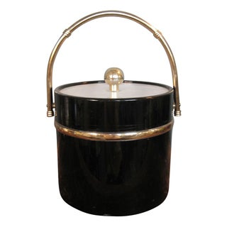 Hollywood Regency Patent Leather Ice Bucket