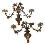 Image of Antique Italian Tole Wall Sconces