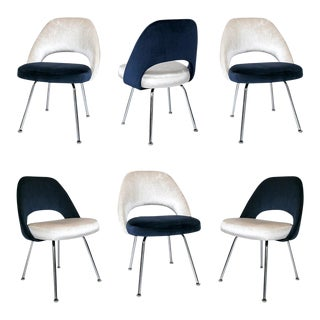 Saarinen Executive Armless Chairs - Set of 6