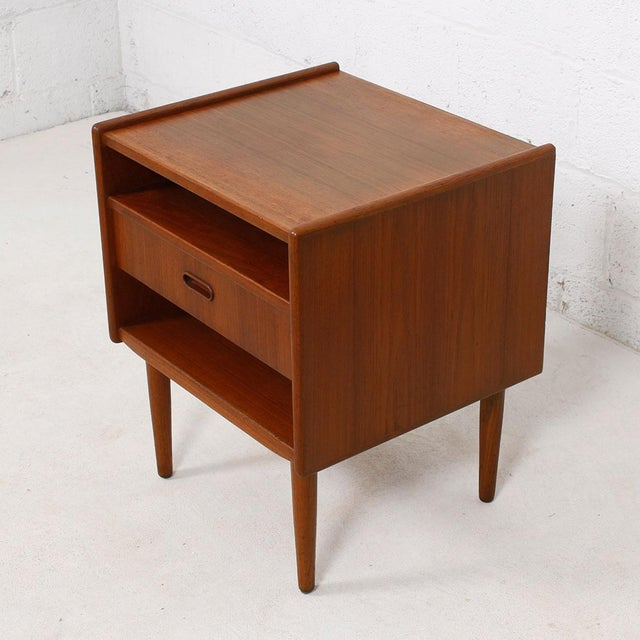 Image of Teak Danish Modern End Tables by Falster - Pair