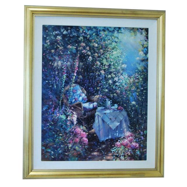 "Image of Oil on Canvas - Paul Matthews ""Trellished Path"""