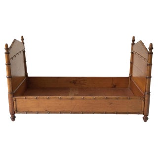 19th Century Miniature Faux Bamboo Bed