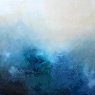 'Blue Bliss' Abstract Mixed Media Painting