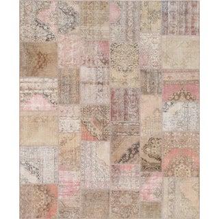 """Vintage Patchwork Wool Rug - 8' 0"""" X 10' 0"""""""