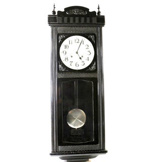1950s Black and White Hanging Clock