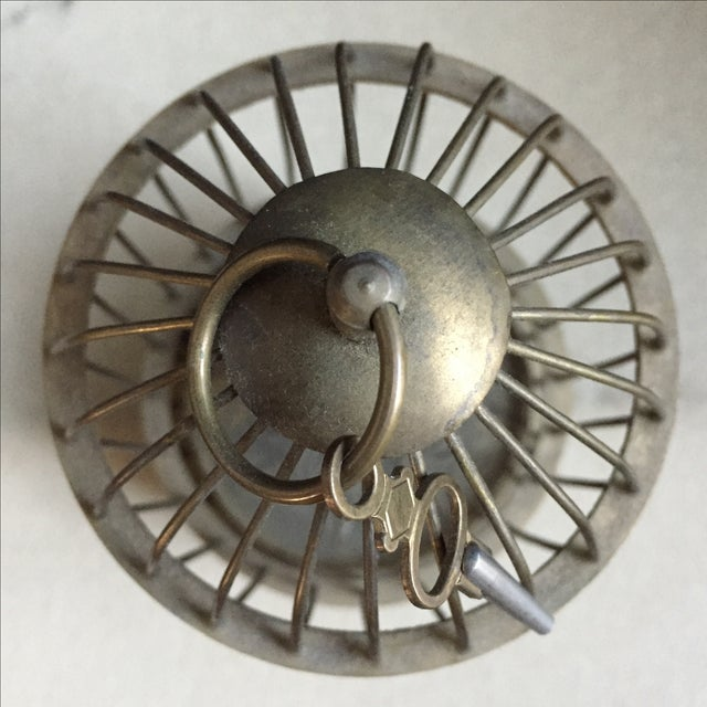 1800's Bird Cage Clock - Image 9 of 9