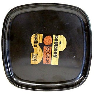 Midcentury Couroc Bar Tray