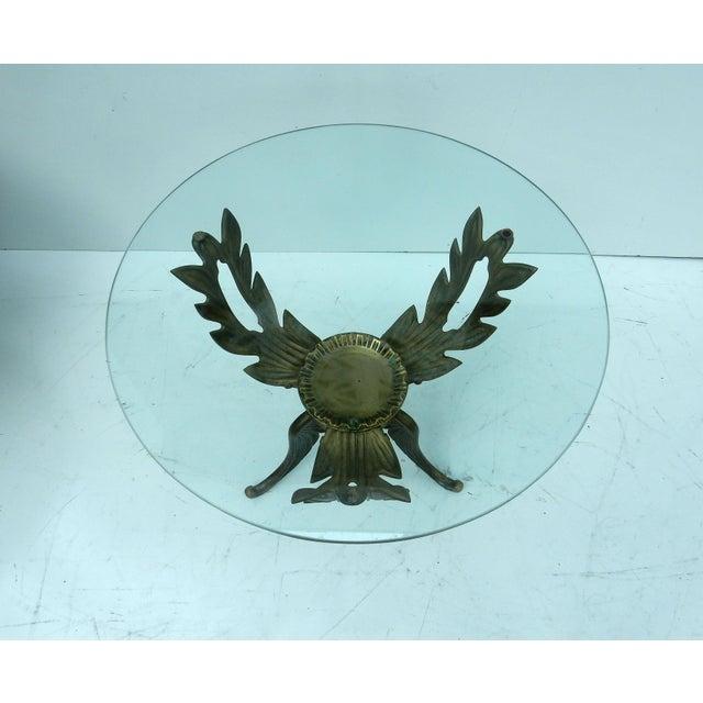 1950s V.L. Viar Bronze & Glass Coffee Table - Image 8 of 8