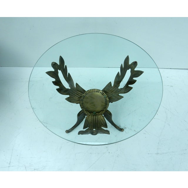 Image of 1950s V.L. Viar Bronze & Glass Coffee Table