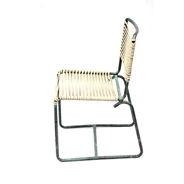 Image of 1950s Patinated Bronze Walter Lamp Patio Chairs